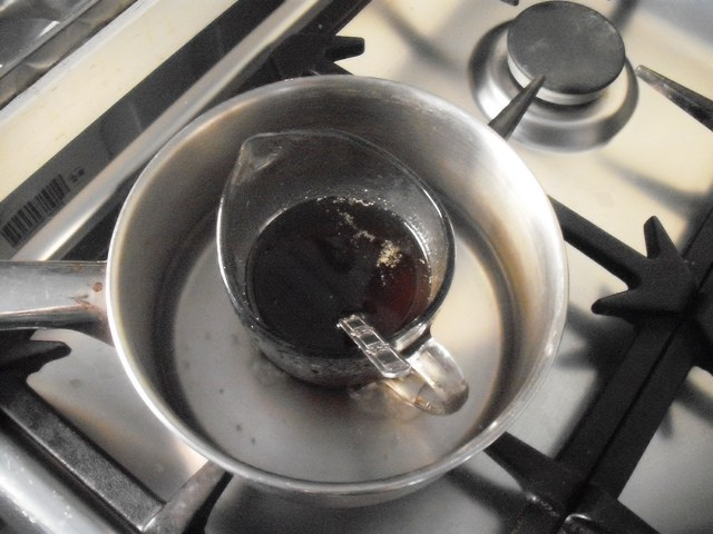 melting beeswax